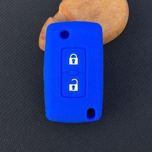 Image 3 - ZAD 2 pulsanti chiave Dellautomobile Del Silicone di Caso Della Copertura di Protezione per Mitsubishi Lancer 10 Outlander 3 Pajero sport auto chiave a distanza accessorio