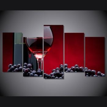 Impresión HD vino krasnoe vinograd butylka pintura lienzo impresión habitación decoración póster imagen lienzo envío gratis/NY-5947