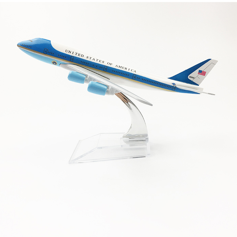 UNITED STATES OF AMERICA Air Force One Aeroplane Model Boeing 747 Airplane 16CM Metal Alloy Diecast 1:400 Airplane Model Toys