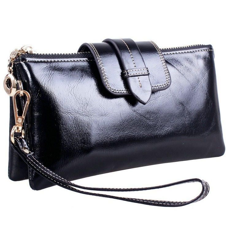 genuine leather wallets with chain