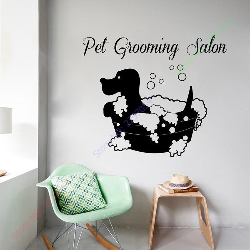 New Arrival Animals Vinyl Wall Decal Pet Grooming Salon Dog Bath - Vinyl wall decals animals
