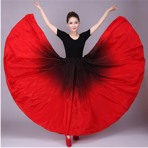 Image 1 - 720 Buik Gypsy Rok Buikdans Ruches Flamenco Rok Nieuwe Buikdansen Grote Rokken Buikdans Rok Flamingo Kostuum B 6832