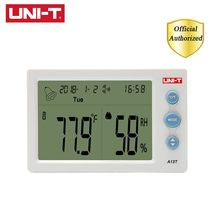 UNI-T A13T Temperature Humidity Meter Indoor and Table Time/Date/Week/Alarm Clock Display