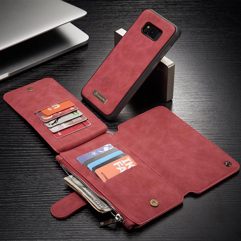 2IN1 Multi-function plånbok blixtlås fodral för Samsung Galaxy S9 - Reservdelar och tillbehör för mobiltelefoner - Foto 3