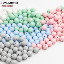 50Pcs Round Silicone Beads 12mm Perle Silicone Dentition Teething Beads For Jewelry Making