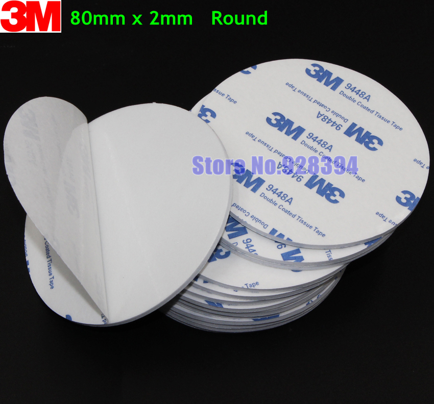 20pcs 80mm round 3m 9448a white double sided eva foam tape pad mounting tape auto car decorative. Black Bedroom Furniture Sets. Home Design Ideas