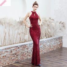 Ukraine Vestido Longo Sale Cotton Polyester Lanon Plus Size Summer Dress 2019 New Model Slim Sexy Annual Banquet Long Fishtail