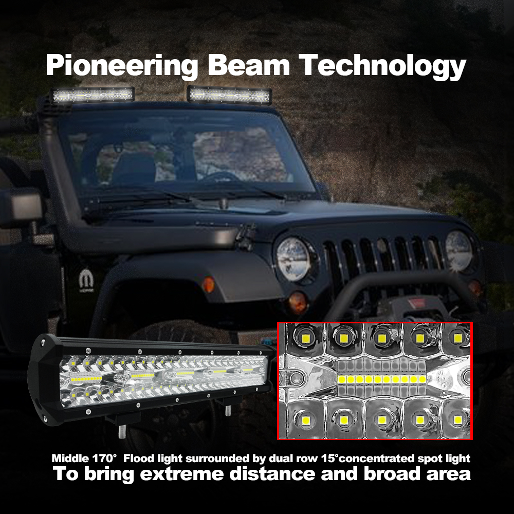 Us 39 9 40 Off Jgaut 15 Inch Car Led Light Bar 30000lm 300w White Lamp Offroad Work Light Bar Spotlight Searchlight Offroad Driving Vehicle In Light