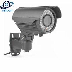 SSICON 2MP 4MP metalowy nabój IP kamera 2.8-12mm soczewka wieloogniskowa 4x Zoom IR odległość 40M wodoodporna kamera telewizji przemysłowej POE Outdoor Onvif