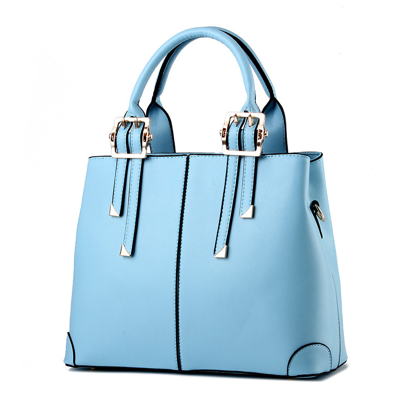 Fashion PU Women Shoulder Bag Casual Clutch Tote Light Blue Office Lady Handbag Festival Gift gbtiger kit