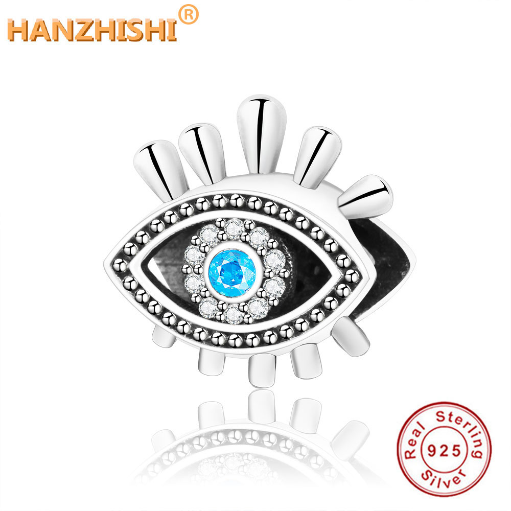 e166a5806 2018 Summer Collection 925 Sterling Silver Eye Charms Beads Fits Original Pandora  Charm Bracelet Authentic DIY Jewelry Making