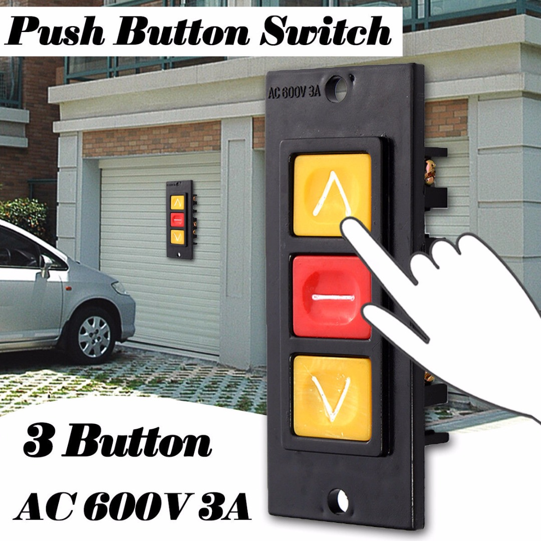 Rolling Door Up Down Stop 3 Buttons Switch Black Plastic Housing Push Button Switches Momentary Switch & Online Get Cheap Door Push Button Switch -Aliexpress.com   Alibaba ... Pezcame.Com