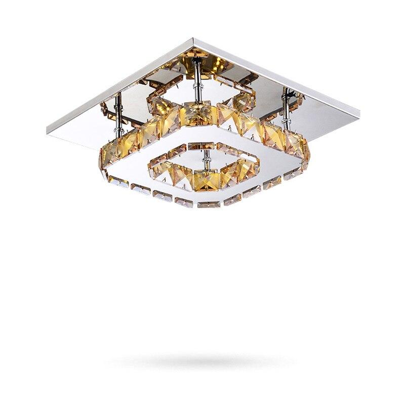 Stainless Steel Modern K9 Crystal Ceiling Lights For Dining Room Bedroom Hotel Hallway Lighting Lamparas De Techo Home Decor