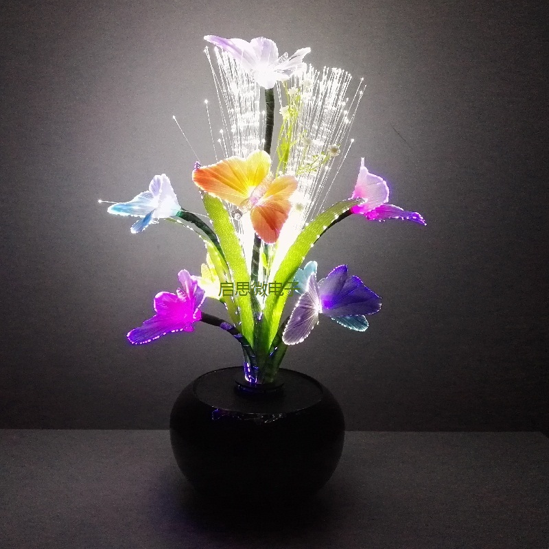 New LED Light Night Atmosphere Lamp With Colorful Changing Butterfly Indoor Light  Home Party Desk Shop Wedding Decor