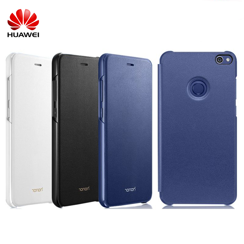 imágenes para 2017 Nueva Original Huawei Honor 8 Lite Oficial/Jóvenes de Cuero Flip caso Superior de LA PU Cubierta Protectora Del Caso Para Huawei Honor 8 Lite