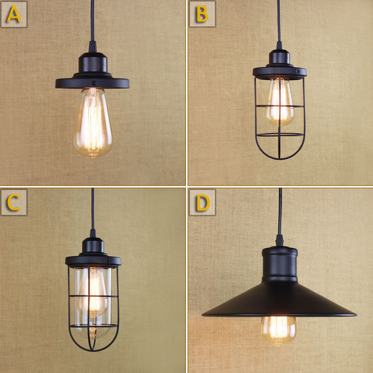 Modern Industrial Retro Iron Loft Style Pendant Light Hallway Bar Cafe Shop Vintage Light AC90-265V Free Shipping