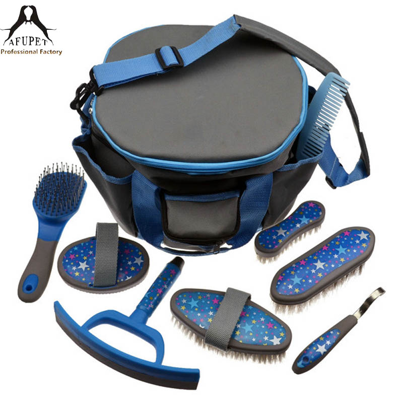horse brush cleaning bath brush tools bag kit horse hand brush tools set