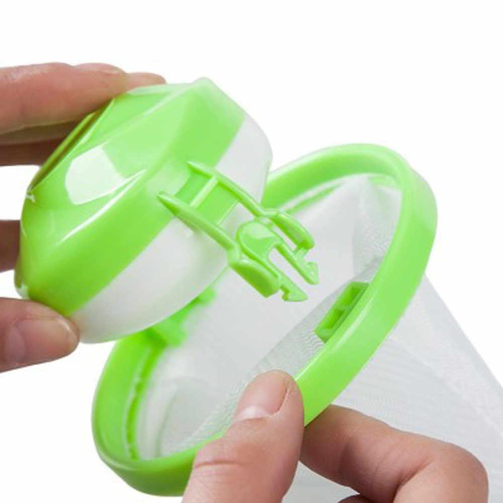 Máquina de lavar roupa saco filtro lint malha captador cabelo doméstico reutilizável flutuante bola bolsa lavagem limpeza ferramentas 524