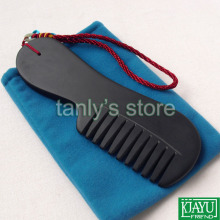 Free shipping! wholesale & retail Original Si Bin Black Bian stone massage guasha comb 170x55x10mm 8pcs/lot