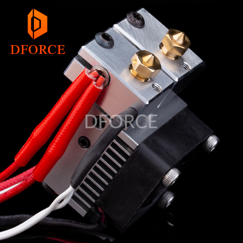 DFORCE Multi Extrusion Dual Extrusion cooling Chimera+ 2 IN 2 OUT for 3D printer For E3D hotend Upgrade the accessories