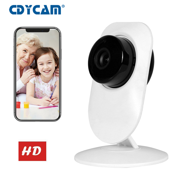 CDYCAM Baby Monitor Wifi IP Camera 720P HD Smart Ip cam Two Way Talk Audio  Record Camera Home pet baby Camera Night Vision-in Baby Monitors from