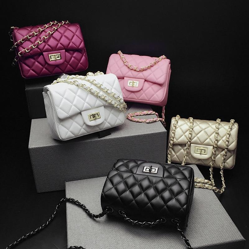 FEMALEE Luxury Bags For Women Designer Daimond Lattice Sheep Skin Chain Crossbody Bags Lingge 2018 Channels Handbags sac a Main