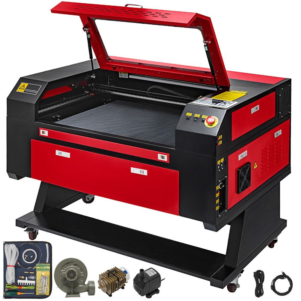 80W CO2 Laser  Engraver Engraving Cutting Machine With Color Screen 700*500mm