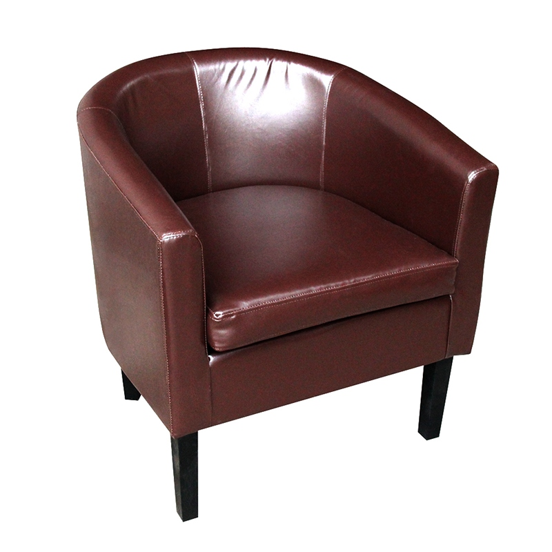 PU Tub Chair Faux Leather Armchair Single Sofa Club Hotel Leisure Chair  Living Room Chair HOT SALE In Living Room Chairs From Furniture On  Aliexpress.com ...