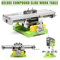 Premium Compound Cross Slide Working Table Adjustment X Y Milling Working Cross Table 6350 Bench Drill Work Table Vise