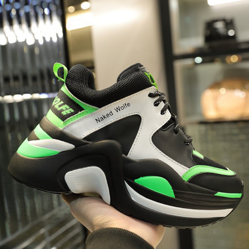 Brand luxury shoes Retro Casual women sneakers spring summer the new hot sale Thick sole Ladies