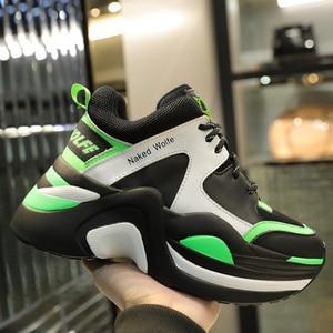 Image 1 - Marka luksusowe buty Retro Casual kobiety trampki wiosna lato nowa gorąca sprzedaż gruba podeszwa obuwie damskie wygodne oddychające