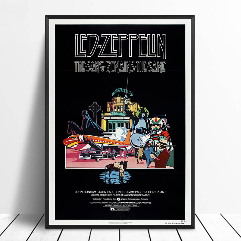 Led Zeppelin The Song Remains the Same Vintage Classic Movie Poster Home Decor Wall Decor Wall Art Canvas painting Canvas Print image
