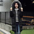 2017 Winter Parka Women Fur Collar Thickening Hooded Loose Winter Jacket Women Large Pocket Long Warm Winter Coats Female Parkas