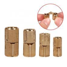 4Pcs/Pack Copper Hinge Cabinet Door Concealed Barrel for Worktops DIY Project Hinges 10/12/14/16mm Optional