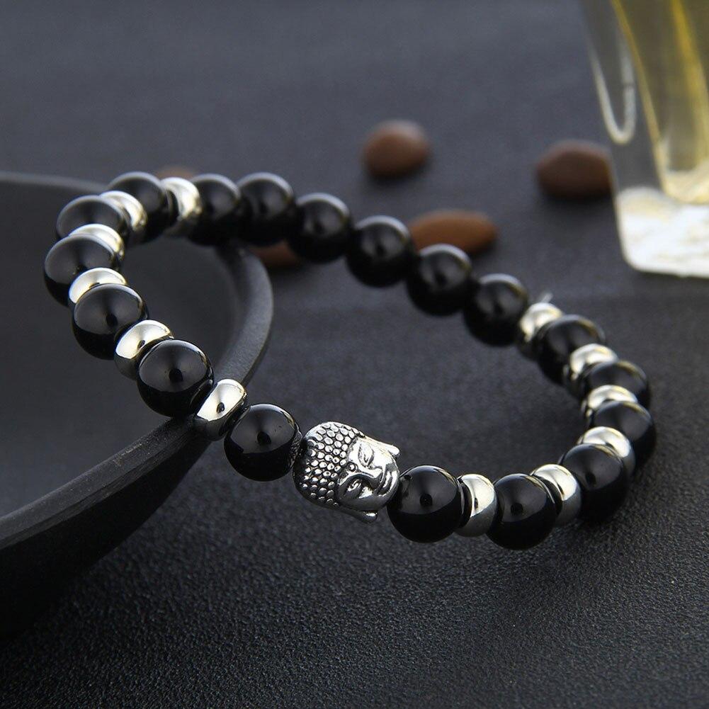 National Wind Beaded Head Buddha Beaded Elastic Bracelet Fashion Beaded Bracelet For Men Women