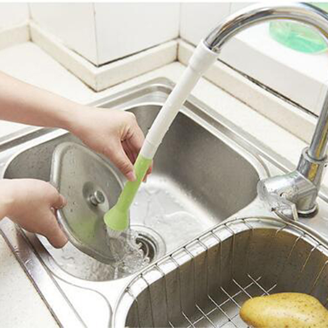 Household Multifunctional Creative Pass Water Sink Faucet Cleaning Brush Cleaning Brush Kitchen cleaning products ramdom color