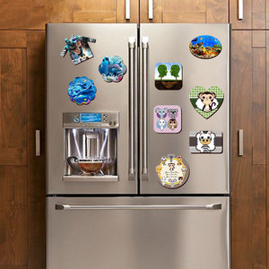 Image 3 - 10pcs Soft Fridge Magnets DIY personalized photo picture printed Stickers on the Fridge Refrigerator Magnets Lot