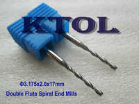 10pc 3.175x2x17MM 2 Flute Mill CNC Engraving Tools/New Power Tool,Wood Milling Cutters for CNC Machine Tool,Acrylic Cutting Bit