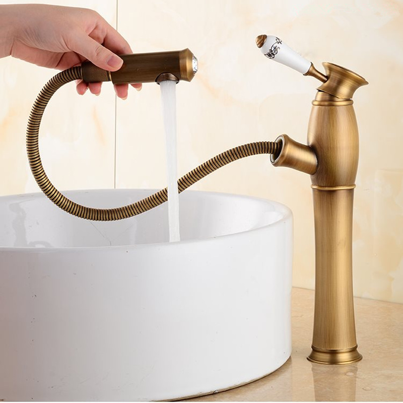 新真鍮の浴室の蛇口アンティーク真鍮浴室の洗面台の蛇口、高級シンクタップ流域ミキサー高品質の蛇口  グループ上の 家のリフォーム からの 流域水栓 の中 2