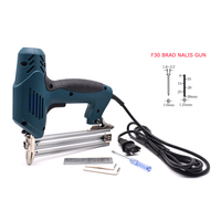 2000W F30 Brads Framing Tacker Electric Nails Gun With 300Pcs Nails Household DIY Hand Tools For Woodworking