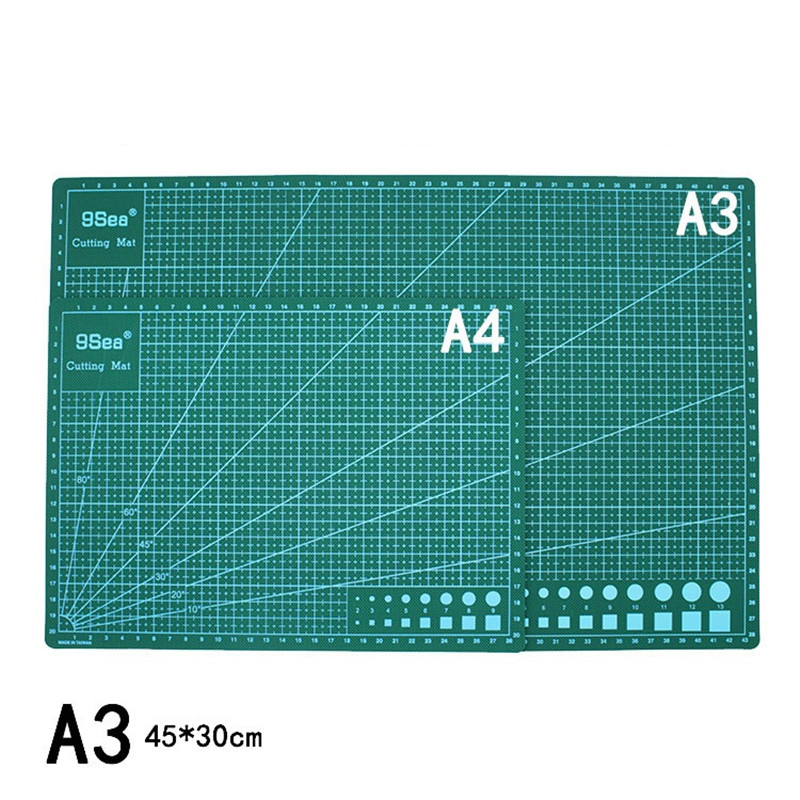A4 A3 PVC Cutting Mat Green Scale Pad DIY Patchwork Cut Carving Design Tools Manual Soft Double-sided Self-healing Cutting Board