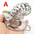 Male Chastity Cage 316L Stainless Steel Cock Lock with Soft Urethral Sound Catheter Male Bondage Dick Cage CBT Sex Toy for Man