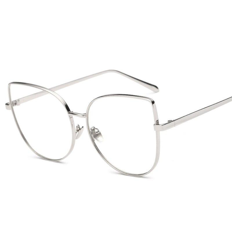 c236b3f0264 Luxury female degree frame cat eye gold glasses optical frame brand design  clear vintage sunglasses Women s Prescription Glasses-in Eyewear Frames  from ...