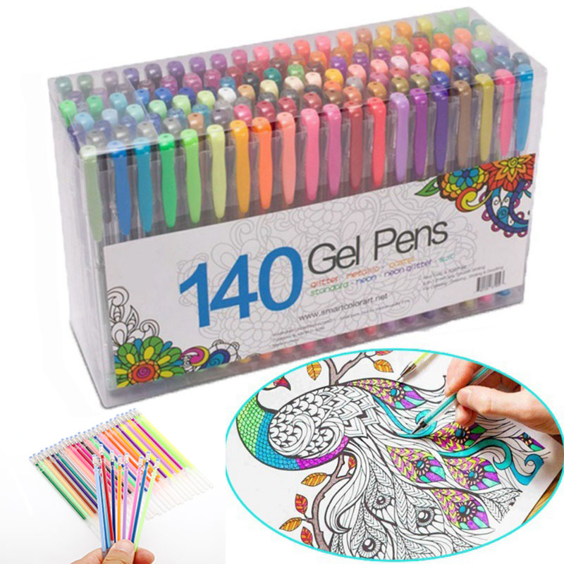 12/24/36/48 Colors Gel Pen Refill Kawaii Flash Drawing Highlight Refills Set Shining Painting  School Stationary Supplies 04116