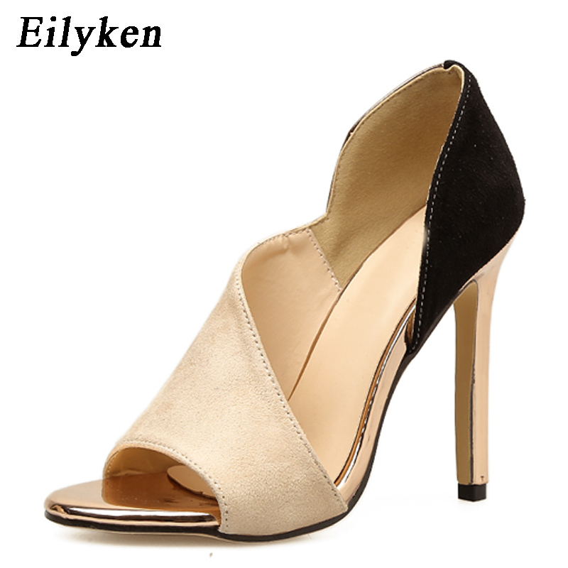 Eilyken 2019 Europe Popular Street Beat Peep Toe shoes High-heeled Catwalk Sexy Rome heel 12cm Woman PumpsEilyken 2019 Europe Popular Street Beat Peep Toe shoes High-heeled Catwalk Sexy Rome heel 12cm Woman Pumps