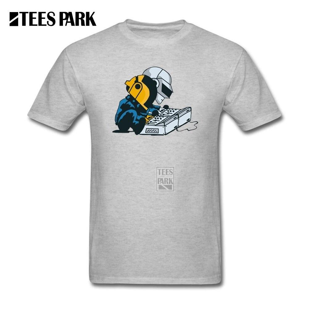 Hombres Camiseta Daft Tuercas Daft Punk Hombres de Cuello