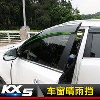 Auto Fenster Regen Schild Heime Abdeckung ABS Sonne Fenster Visier fit für 2016 2017 neue KIA Sportage KX5 Auto styling-in Chrom-Styling aus Kraftfahrzeuge und Motorräder bei