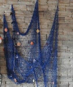 Модные 3D настенные наклейки в морском стиле, Большие морские рыболовные сети, настенные подвесные украшения для детской гостиной, декораци...