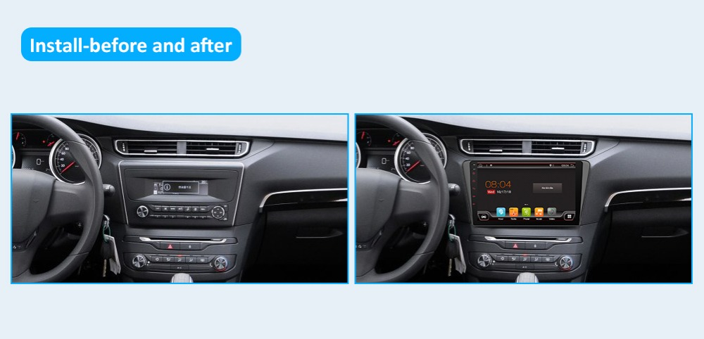 64G 10 inch Android 9.0 GPS Navigation Autoradio Multimedia Radio Player Bluetooth WIFI MirrorLink Universal 1Din Car Radio
