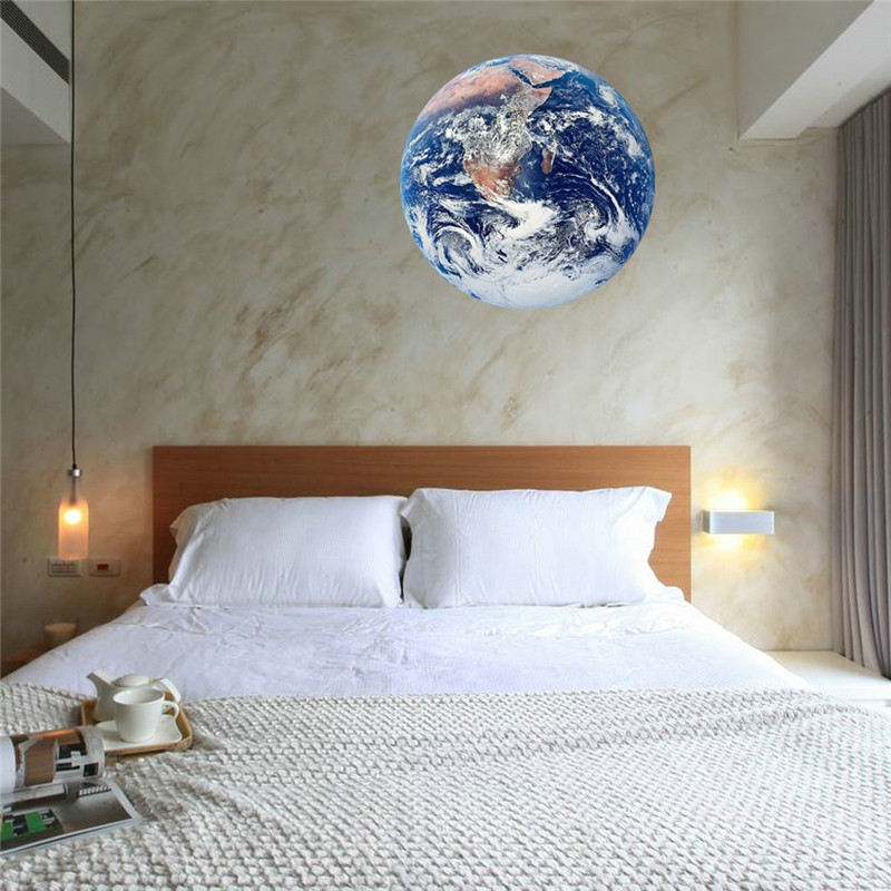 Image 3 - 20cm 3D Large Moon Fluorescent Wall Sticker Removable Glow In The Dark Sticker Children's Bedroom Wall Decor 2019-in Wall Stickers from Home & Garden